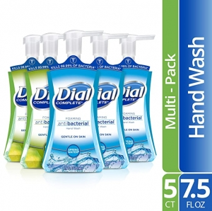ihocon: Dial Complete Antibacterial Foaming Hand Soap, 2-Scent Variety Pack, Spring Water/Fresh Pear, 7.5 Fluid Ounces Each (Pack of 5) 抗菌泡沫洗手液皂