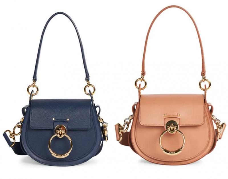 ihocon: Chloe Small Tess Leather Saddle Bag 馬鞍包