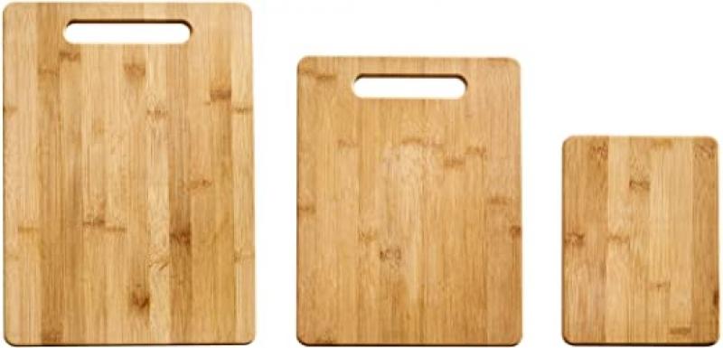 ihocon: Farberware 3-Piece Bamboo Cutting Board, Set of 3 Assorted Sizes竹製菜板