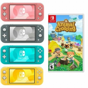 ihocon: Nintendo Switch Lite Console (3色可選)+ Animal Crossing遊戲