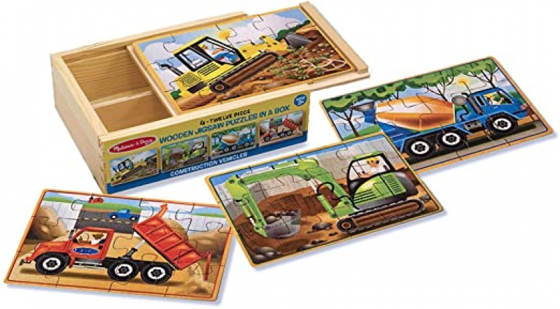 ihocon: Melissa & Doug Wooden Jigsaw Puzzles in a Box 木製拼圖