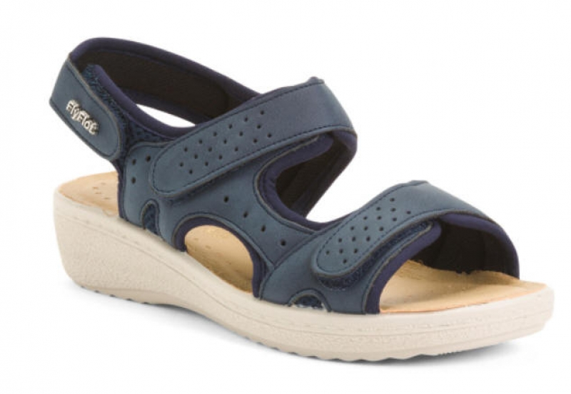 ihocon: FLY FLOT Made In Italy Comfort Sandals With Velcro Closure 義大利製女士涼鞋