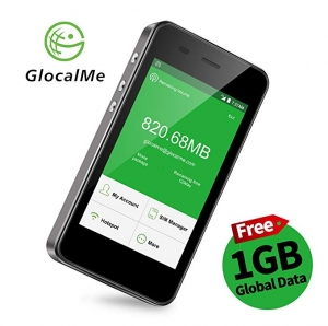 ihocon: GlocalMe G3 4G LTE Mobile Hotspot with 1GB Global Initial Data (Black)全球行動熱點