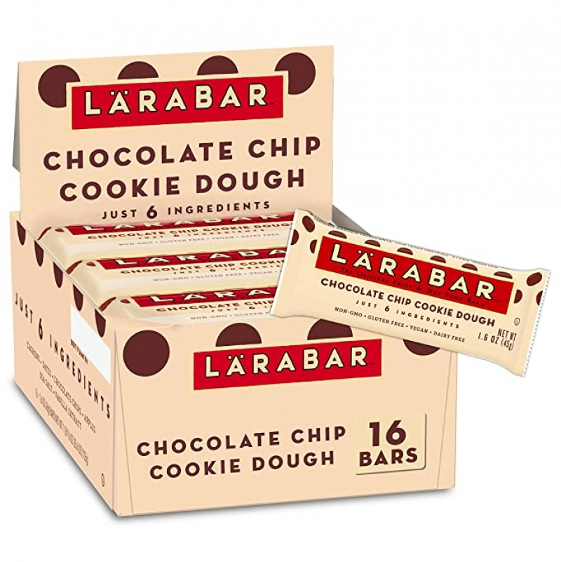 ihocon: Larabar Gluten Free Bar, Chocolate Chip Cookie Dough, 1.6 oz Bars (16 Count) 點心棒