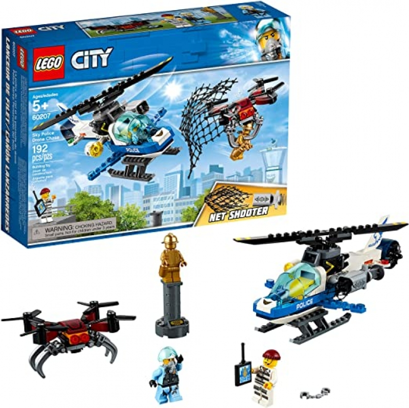 ihocon: LEGO City Sky Police Drone Chase 60207 Building Kit (192 Pieces)