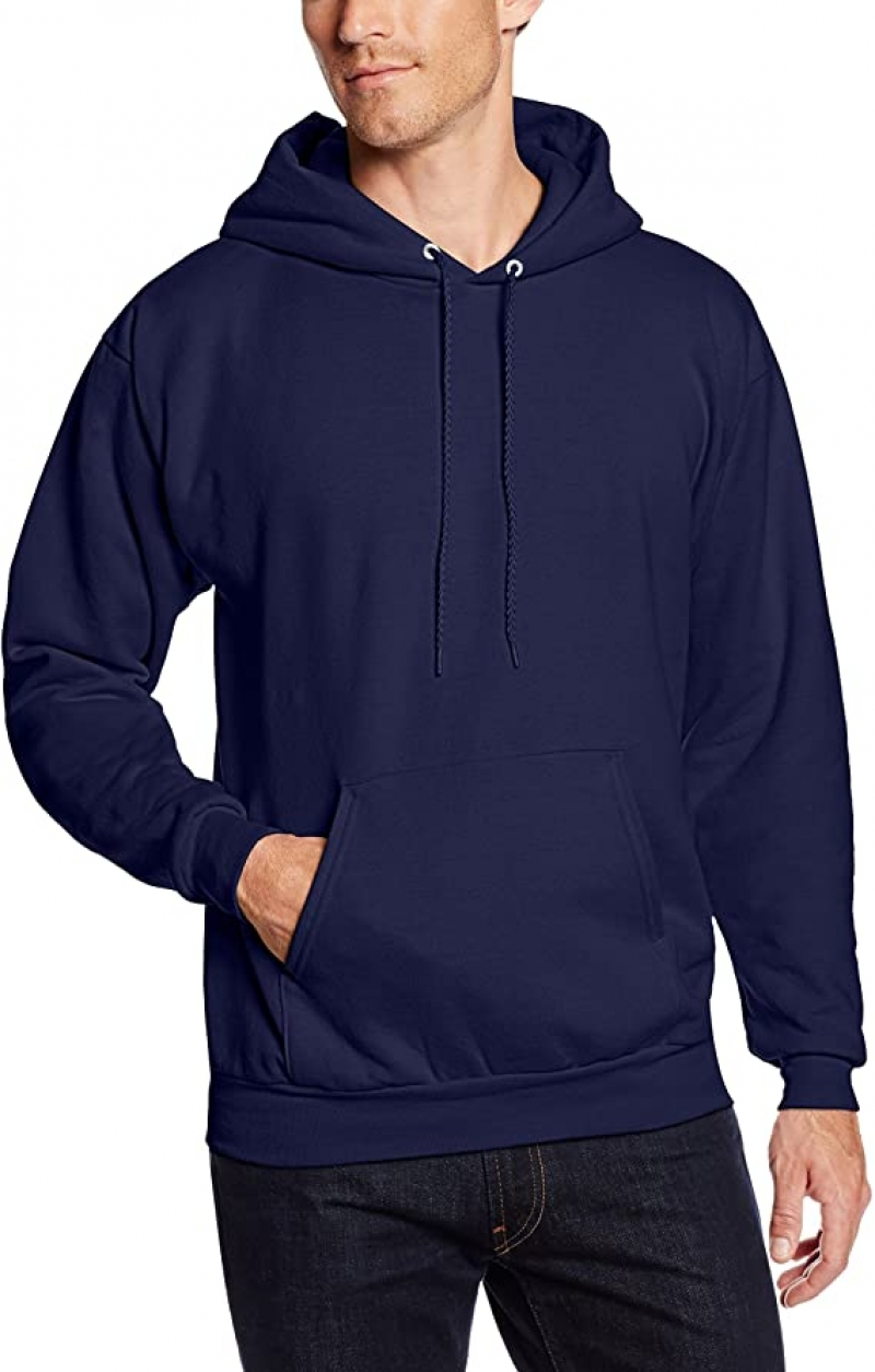 ihocon: Hanes Mens Pullover Ecosmart Fleece Hooded Sweatshirt 男士連帽套頭衫