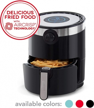 ihocon: Dash DMAF360GBBK02 AirCrisp Pro Electric Air Fryer, 3Qt 氣炸鍋