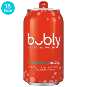 ihocon: bubly Sparkling Water, Strawberry, 12 Fluid Ounces cans (18 Pack) 水果口味氣泡水