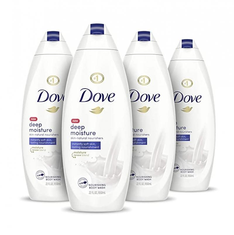 ihocon: Dove Body Wash, 4 Count, 22 oz 沐浴乳