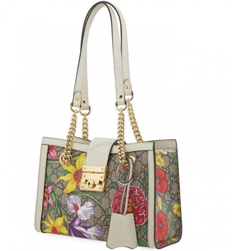 ihocon: Gucci Ladies Padlock GG Flora Shoulder Bag 女士花朵包包