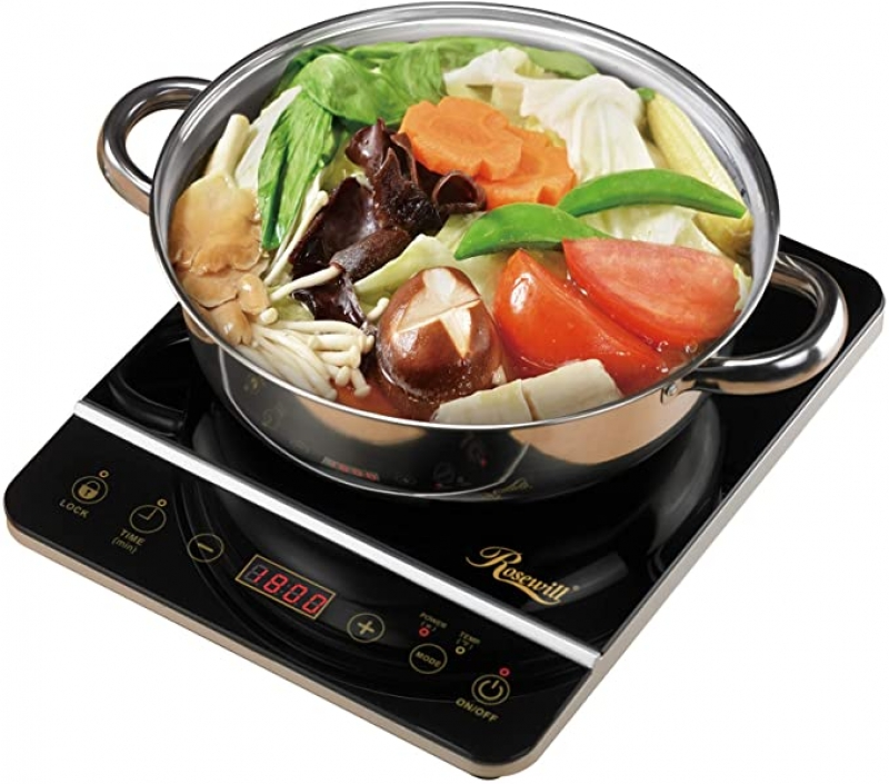 ihocon: Rosewill 1800 Watt Induction Cooker Cooktop , Included 10 3.5 Qt 18-8 Stainless Steel Pot 電磁爐 + 不銹鋼鍋