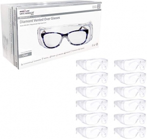 ihocon: SAFE HANDLER Diamont Vented Over Glasses Safety Glasses 12 PAIRS 安全護目鏡, 可戴在眼鏡外, 12副