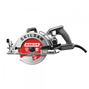 ihocon: SKILSAW 15 Amp Corded Electric 7-1/4 in. Aluminum Worm Drive Circular Saw with 24-Tooth Carbide Tipped Diablo Blade 電動圓鋸