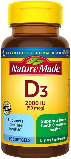 ihocon: Nature Made Vitamin D3 2000 IU (50 mcg) Softgels, 90 Count