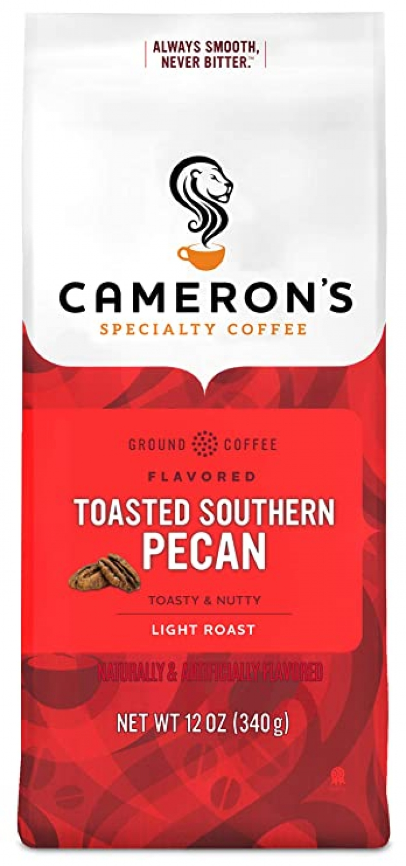ihocon: Cameron's Coffee Roasted Ground Coffee Bag, Flavored, Toasted Southern Pecan, 12 Ounce 研磨咖啡粉