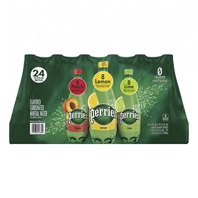ihocon: Perrier Carbonated Mineral Water, Assorted Flavors, 16.9 fl. oz. Plastic Bottles (24 Pack)水果口味氣泡礦泉水