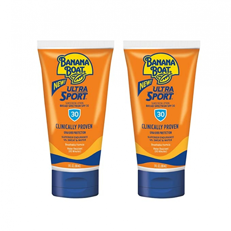 ihocon: Banana Boat Ultra Reef Friendly Sunscreen Lotion, Broad Spectrum SPF 30, TSA Approved, 3 Ounce (Pack of 2) 防曬乳
