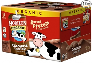 ihocon: Horizon Organic Shelf-Stable 1% Lowfat Milk Boxes, Chocolate, 8 oz., 12 Pack ​​有機貨低脂巧克力牛奶