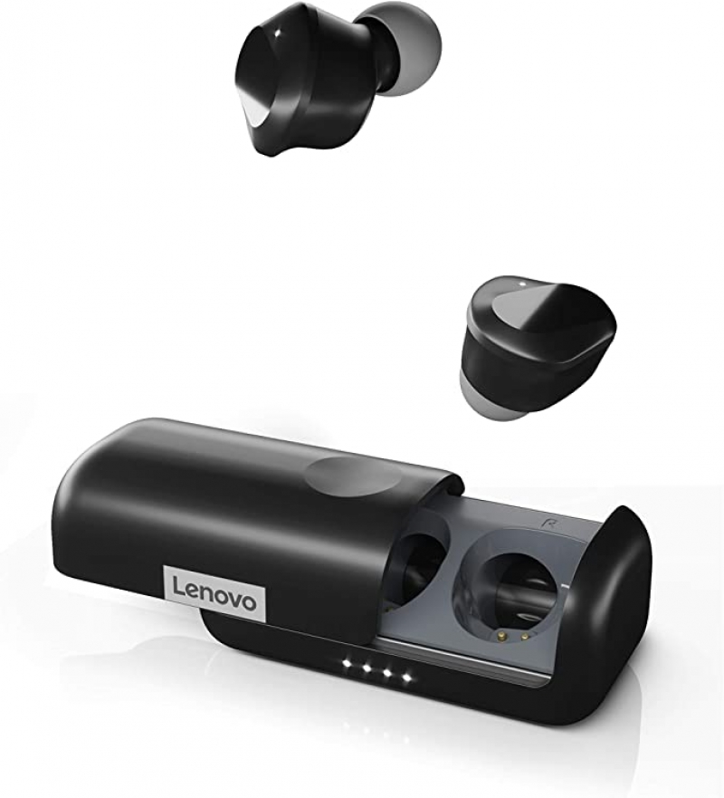 ihocon: Lenovo True Wireless Earbuds Bluetooth 5.0 IPX5 Waterproof with USB-C Quick Charge 真無線耳機