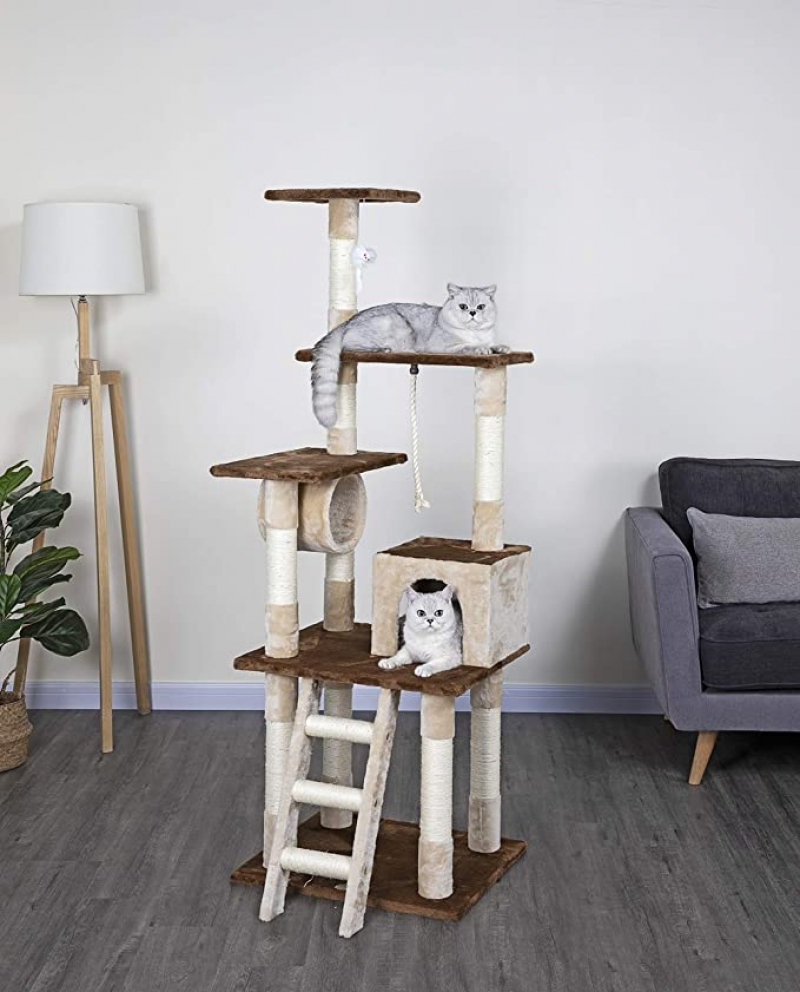 ihocon: Go Pet Club Cat Tree Furniture Condo, 67吋 貓跳台
