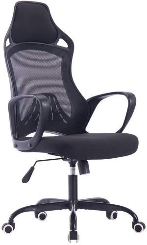 ihocon: Sidanli High Back Computer Chair-Black 高背電腦椅