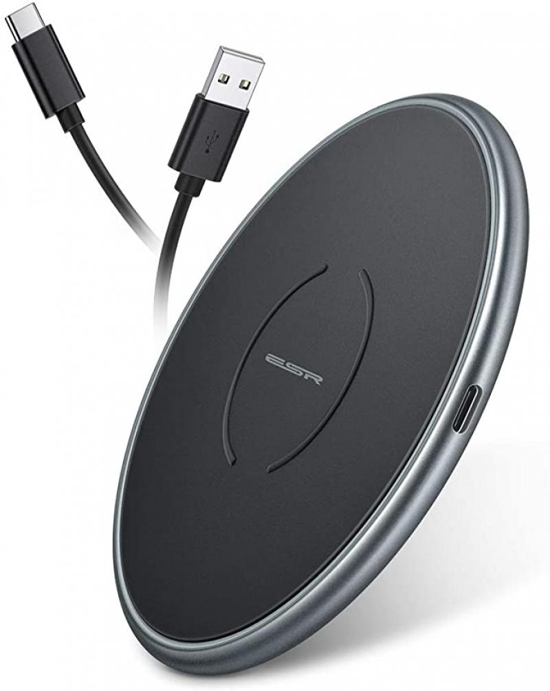 ihocon: ESR 10W Metal Frame Ultra-Thin Wireless Charger 無線充電板