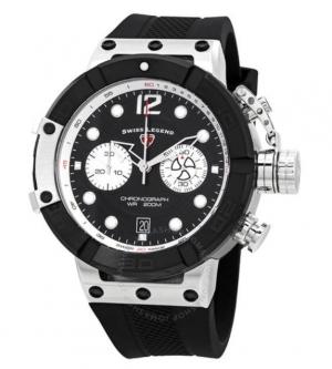 ihocon: Swiss Legend Triton Chronograph Black Dial Men's Watch 男錶