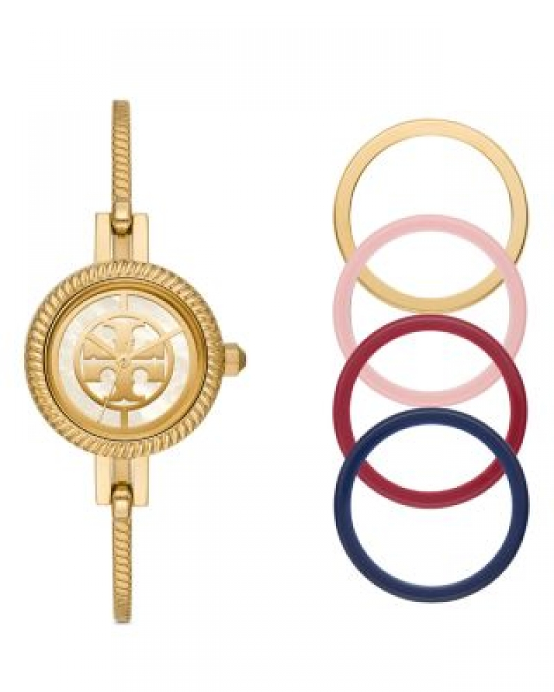 ihocon: Tory Burch The Reva Bangle Bracelet Watch Gift Set, 27mm   可換錶圈手鐲錶