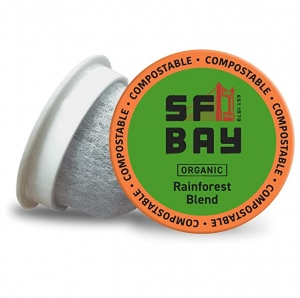 ihocon: SF Bay Coffee Organic Rainforest Blend 120 Ct Medium Roast Compostable Coffee Pods, K Cup Compatible咖啡膠囊