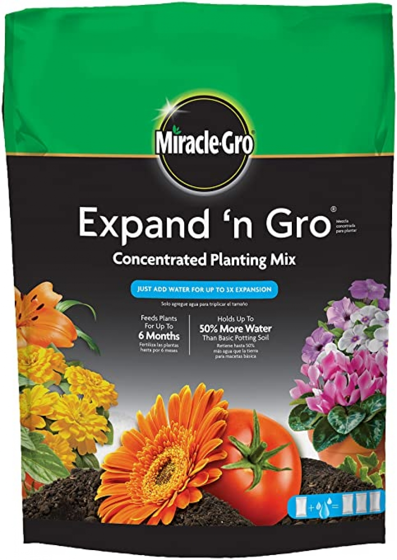 Miracle-Gro Expand 'n Gro 濃縮種植土 0.33 Cu Ft $11.98(原價$13.62)