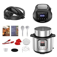 ihocon: Rozmoz Pressure Cooker  Air Fryer Combos, 6 Qt Multi-Cooker with Pressure  Crisping Lid  2合1 壓力鍋/ 氣炸鍋