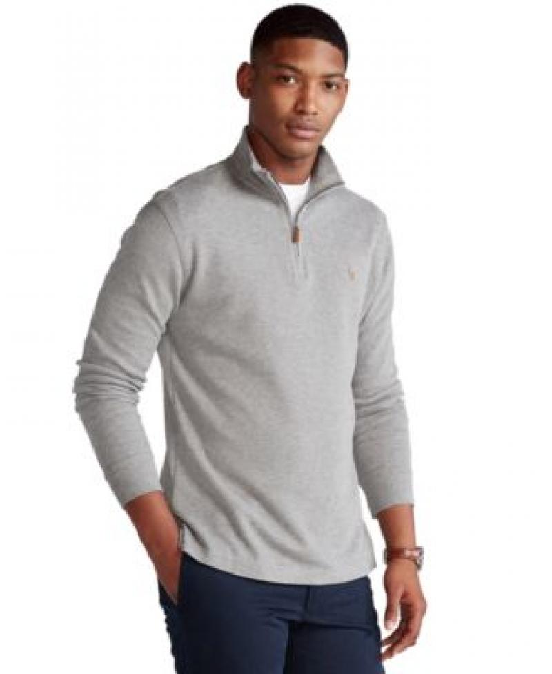 ihocon: Polo Ralph Lauren Men's Estate-Rib Cotton Quarter-Zip Pullover 男士純棉套頭衫 - 多色可選