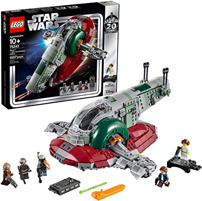 ihocon: [20週年紀念版] LEGO Star Wars Slave l – 20th Anniversary Edition 75243 Building Kit (1007 Pieces)