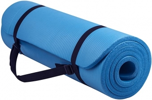 ihocon: BalanceFrom GoYoga All-Purpose 1/2-Inch Extra Thick High Density Yoga Mat with Carrying Strap 瑜伽墊, 含背帶