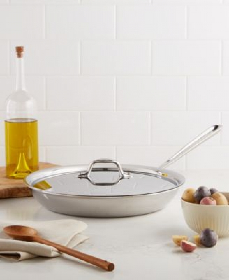 ihocon: All-Clad Stainless Steel 12 Covered Fry Pan 含蓋不銹鋼鍋