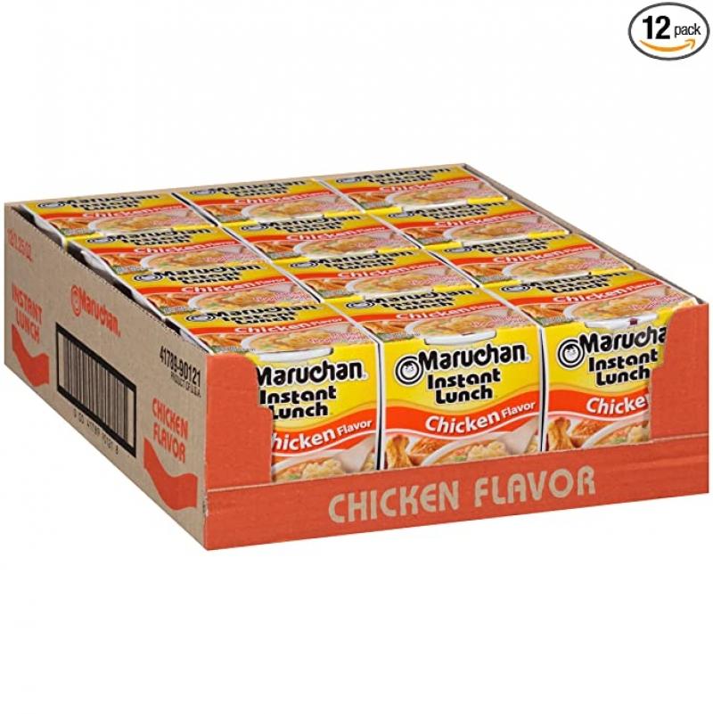 ihocon: Maruchan Instant Lunch Chicken Flavor, 2.25 Ounce (Pack of 12)  即食杯麵(雞肉口味)