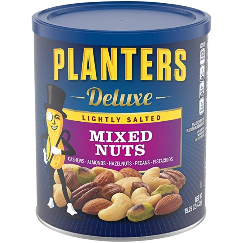 ihocon: PLANTERS Deluxe Lightly Salted Mixed Nuts, 15.25 oz. 鹽焗綜合堅果