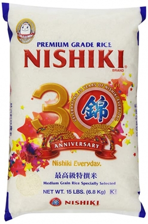 ihocon: Nishiki Premium Rice, Medium Grain, 15-Pound Bag 錦米