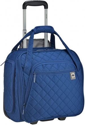 ihocon: DELSEY Paris Rolling Under Seat Tote Bag, Blue, One Size 拉桿可放座位下旅行袋
