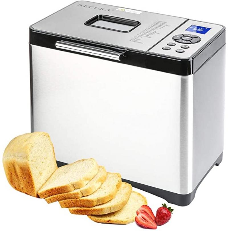 ihocon: Secura Bread Maker Machine 2.2lb Stainless Steel Toaster Makers  麵包機