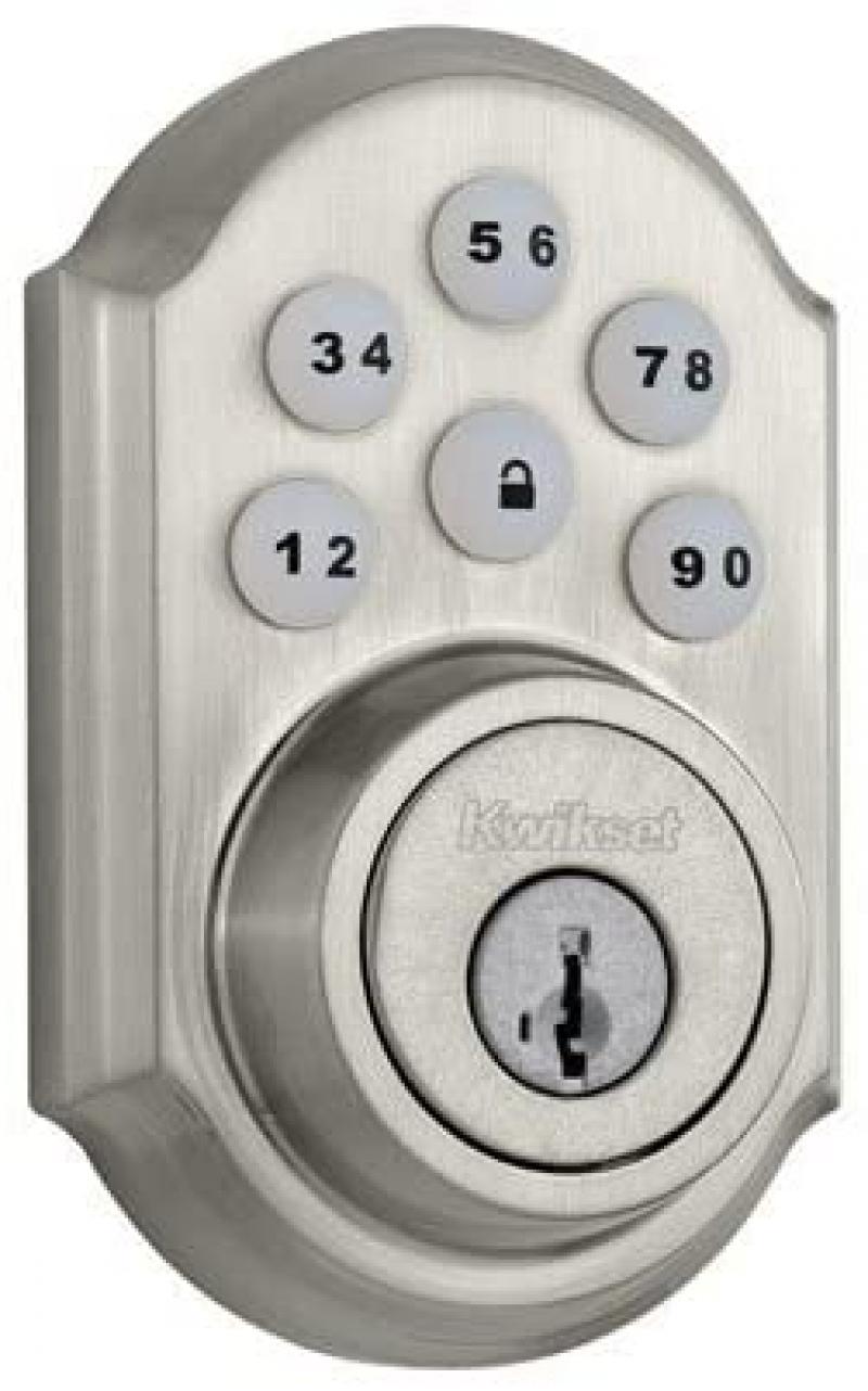 [出門免帶鑰匙] Kwikset 數字按鍵門鎖 $56.54免運(原價$70.68)