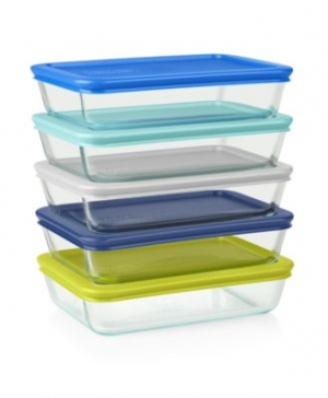 ihocon: Pyrex Simply Store 10-Pc. Meal Prep Container Set玻璃保鮮盒