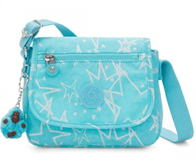 ihocon: Kipling Sabian Printed Crossbody Mini Bag Starry Vision Teal  迷你斜背包