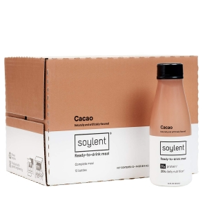 ihocon: Soylent Meal Replacement Shake, Cacao, 14 oz Bottles, 12 Pack 代餐奶昔