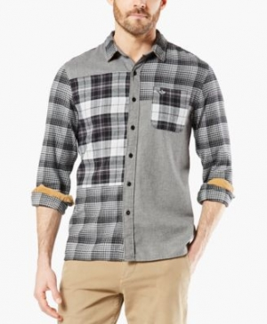 ihocon: Dockers Men's Alpha Modern-Fit All Seasons Tech Mixed Flannel Shirt 男士襯衫