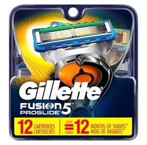 ihocon: Gillette Fusion5 ProGlide Men's Razor Blades Refills, 12 Count, Mens Fusion Razors / Blades 男士刮鬍刀刀片