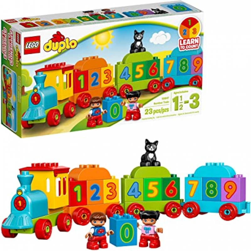 ihocon: [幼兒積木] LEGO DUPLO My First Number Train 10847 Learning and Counting Train Set Building Kit(23 Pieces) 數字學習火車積木