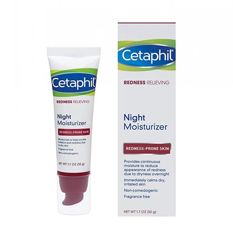 ihocon: Cetaphil Redness Relieving Night Moisturizer, 1.7 Ounce 夜間保濕霜