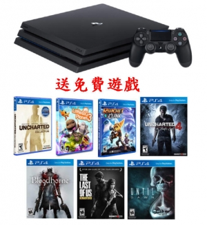 ihocon: Sony PlayStation 4 Pro PS4 Gaming Console主機+7個遊戲