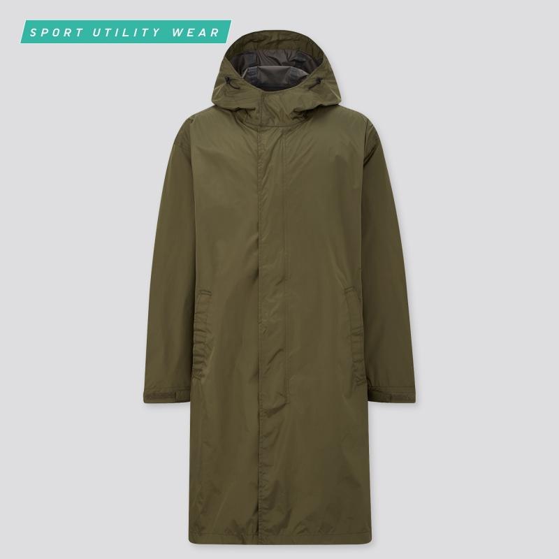 ihocon: UNIQLO MEN LIGHTWEIGHT BLOCKTECH COAT男士連帽輕型長大衣